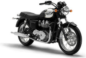 2005 Triumph Bonneville T100 in Jet Black & White