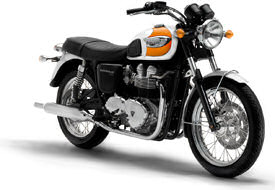 2005 Triumph Bonneville T100 in Tangerine Orange & White