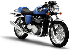 2005 Triumph Thruxton in Caspian Blue and Silver