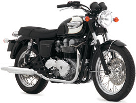 2007 Triumph Bonneville T100 in Jet Black & Opal White