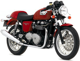 2007 Triumph Thruxton in Tornado Red