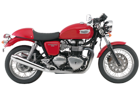 2009 Triumph Thruxton in Tornado Red with White Stripe