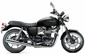 2012 Phantom Black Triumph Bonneville