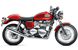 2008 Triumph Thruxton in Tornado Red with White Stripe