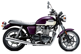 2013 Purple/White Triumph Bonneville